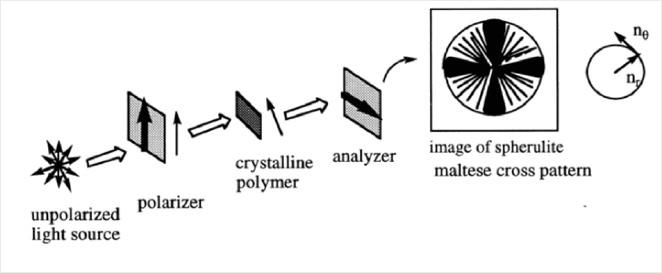 Figure 2: Cross polarisation microscopy.